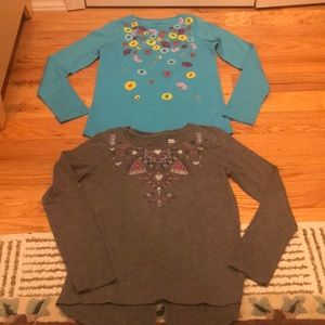 Girls size Large tops Lands End epic threads